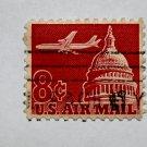 U.S. Cat. # C64 - 1962 8c Plane & Capitol,carmine
