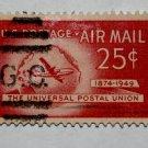 U.S. Cat. # C44 - 1949 25c Plane & Globe