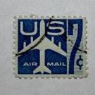4-U.S. Cat. # C52 - 1958 7c Jet Perf 10H blue