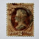 U.S. Cat. # 135 - 1870 2c Jackson, red brown