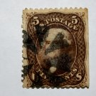 2-U.S. Cat. #76 1863 5 cent Jefferson, brown