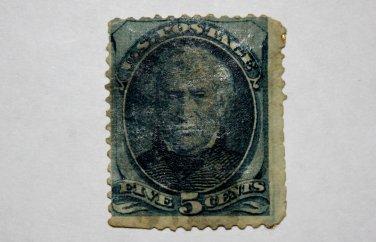 2-U.S. Cat. # 179 - 1875 5c Zachary Taylor, blue
