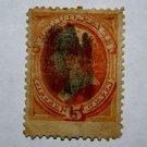 U.S. Cat. # 189 - 1879 15c Webster, red orange