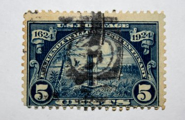 U.S. Cat. # 616 -1924 5c Monument at Mayport, Florida