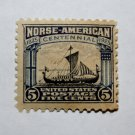 U.S. Cat. # 621 -1925 5c Viking Ship