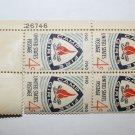 U.S. #1167 - Plate Block - 1960 4c Camp Fire Girls