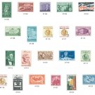 YS1958 Commemorative Year Set - Contents: YS1958 (1100, 1104-23) 21 Stamps