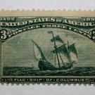 U.S. Cat. # 232 - 1893 3c Flagship of Columbus