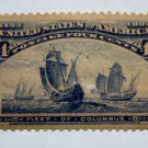 U.S. Cat. # 233 -1893 4c Fleet of Columbus