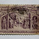 2-U.S. # 235 - 1893 6c Columbus at Barcelona