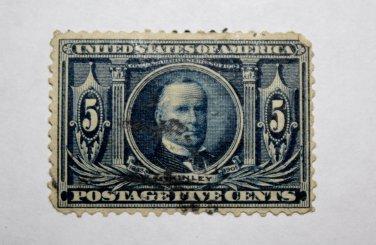 3-U.S. # 326 - 1904 5¢ McKinley Louisiana Purchase Commemorative