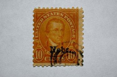 U.S. Cat. # 679 - 1929 Monroe 10c orange yellow