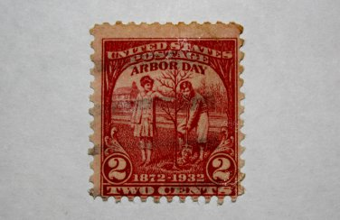 U.S. Cat. # 717 - 1932 2c Arbor Day Issue