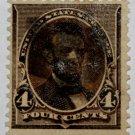 U.S. Cat. # 222 - 1890 4c Lincoln, dark brown
