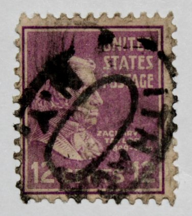 2-U.S. Cat. # 817 - 1938 Taylor 12c purple