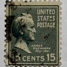 2-U.S. Cat. # 820 - 1938 Buchanan 15c light blue