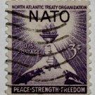 2-U.S. Cat. # 1008 - 1952 3c NATO