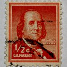 U.S. Cat. # 1030 - 1958 1/2c Benjamin Franklin