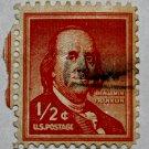 2-U.S. Cat. # 1030 - 1958 1/2c Benjamin Franklin