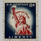 U.S. Cat. # 1042 - 1958 8c Statue of Liberty, Redrawn