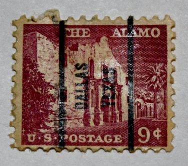 U.S. Cat. # 1043 - 1956 9c The Alamo