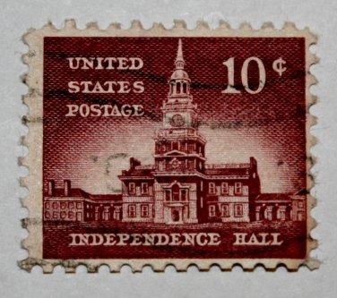 U.S. Cat. # 1044 - 1956 10c Independence Hall