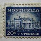 U.S. Cat. # 1047 - 1956 20c Monticello