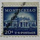 3-U.S. Cat. # 1047 - 1956 20c Monticello