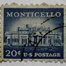 6-U.S. Cat. # 1047 - 1956 20c Monticello