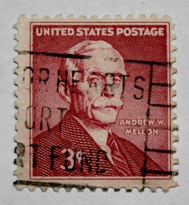 2-U.S. Cat. # 1072 - 1955 3c Andrew W. Mellon