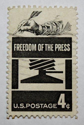 U.S. Cat. # 1119 - 1958 4c Freedom of Press