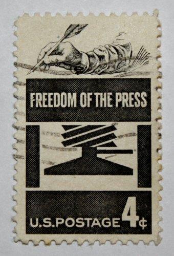 2-U.S. Cat. # 1119 - 1958 4c Freedom of Press