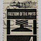 3-U.S. Cat. # 1119 - 1958 4c Freedom of Press
