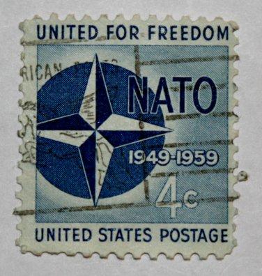 2-U.S. Cat. # 1127 - 1959 4c Nato
