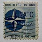 3-U.S. Cat. # 1127 - 1959 4c Nato