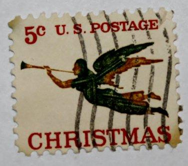 U.S. Cat. # 1276 - 1965 5c Christmas Angel