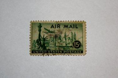 5-U.S. Cat. # C35 - 1947 15c New York Skyline