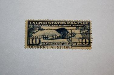 U.S. Cat. # C10 - 1927 10c Lindbergh Iss dk blue