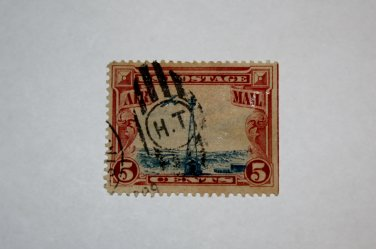 U.S. Cat. # C11 - 1928 5c Beacon on Rocky Mountains