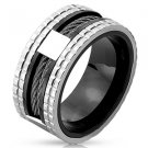 Stainless Steel Two-Toned Ring