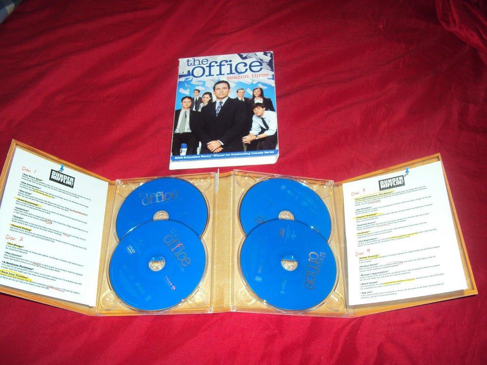 THE OFFICE SEASON THREE 3  DVD  4 DISCS SLIP COVER & DISC ART CASE NEAR MINT
