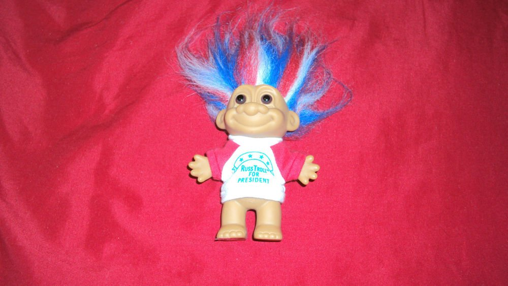 """RUSS TROLL DOLL RUSS TROLL FOR PRESIDENT KIDZ 5"""" GREAT CONDITION ONE OWNER"""