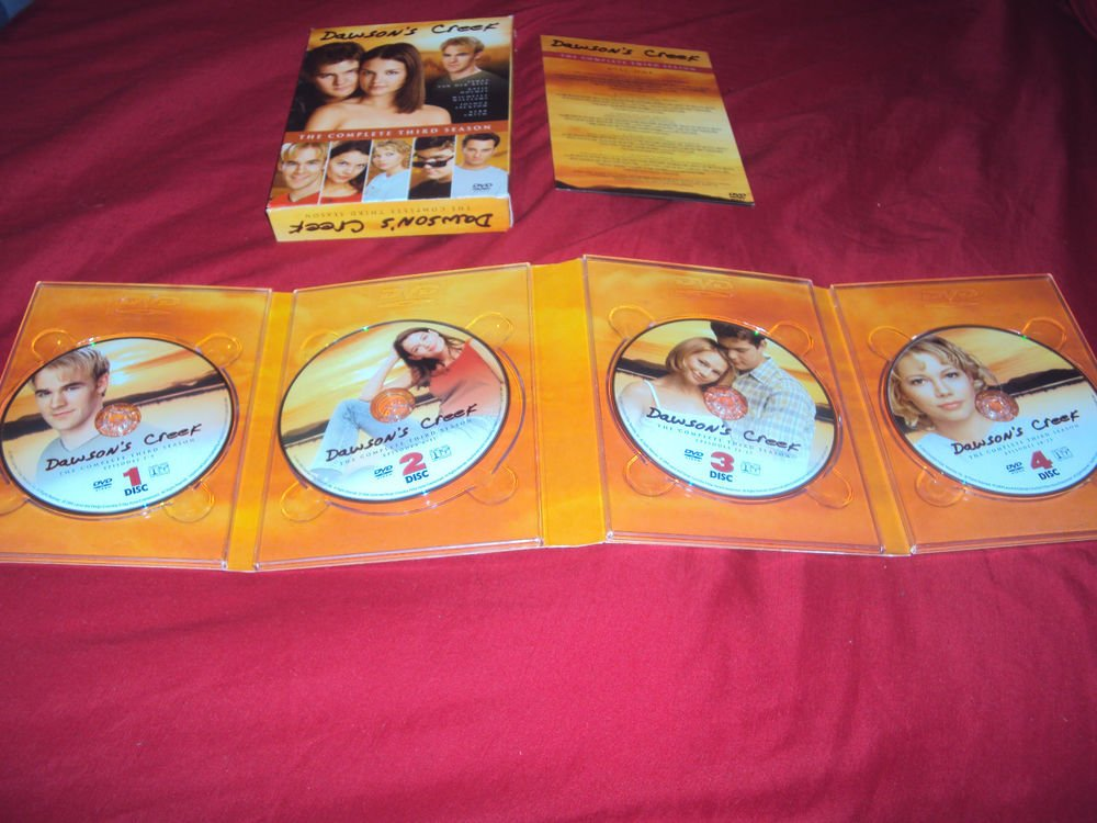 DAWSON'S CREEK THIRD SEASON 3 DVD 4 DISCS BOX ART INSERT & ART CASE VG TO NRMNT