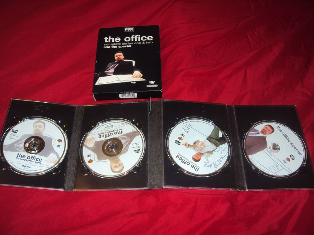 THE OFFICE COLLECTION SEASON 1 & 2 + SPECIAL BBC DVD 4 DISCS BOX ART & ART CASE