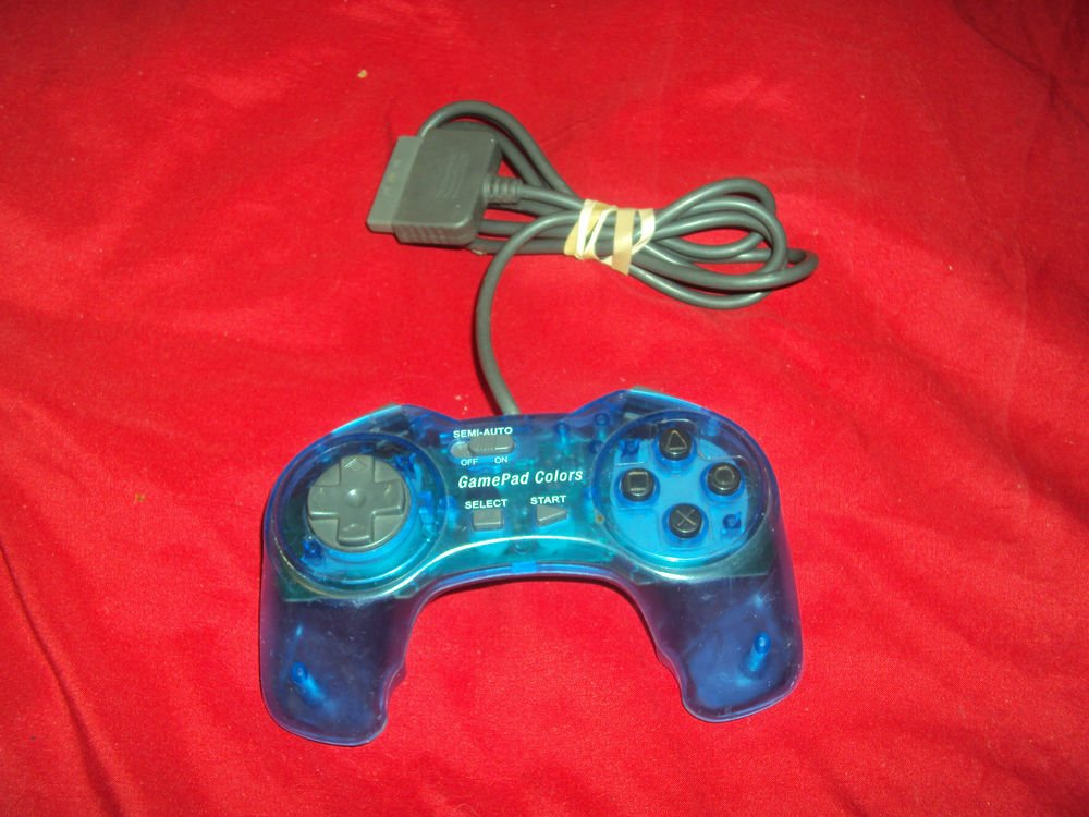 PLAYSTATION 1 PS1 GAMEPAD COLORS PERFORMANCE CONTROLLER P-107GSN GOOD CONDITION
