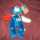 "USA STARS AND STRIPES TEDDY Cris Ta Bears Plush Beanie 8.5"" NEW WITH TAGS"