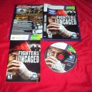 FIGHTERS UNCAGED DISC MANUAL ART & CASE VG TO NRMNT xbox 360 SHIP SAME DAY / NXT