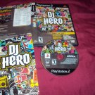 DJ Hero PlayStation 2 PS2 ***PS3 DISC MANUAL ART & CASE VERY GOOD TO GOOD