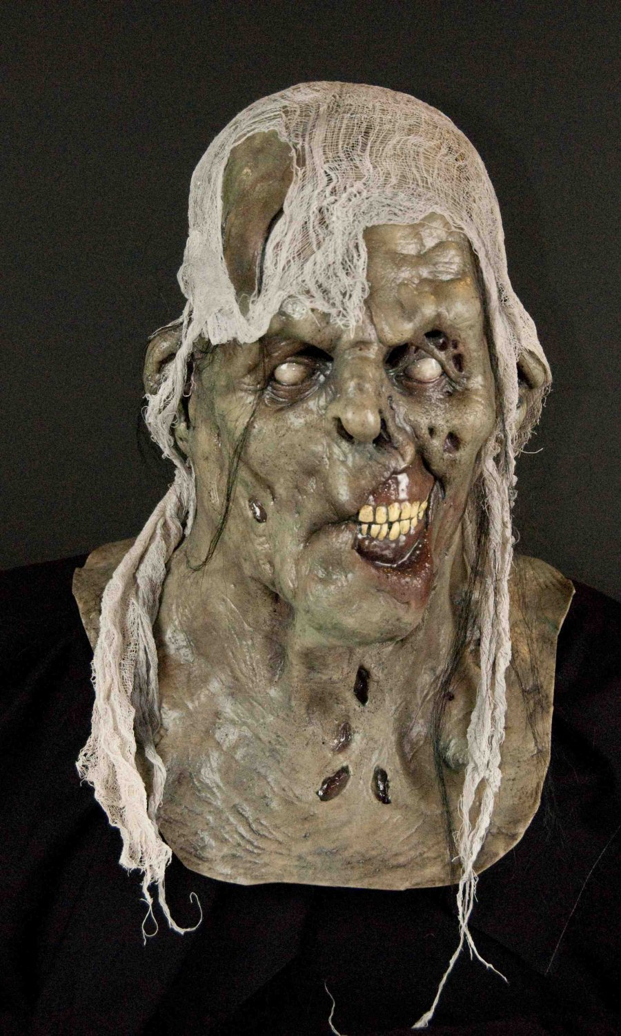 Fish Food Rotting Corpse Zombie Undead Walking Dead Creature Scary Halloween Mask