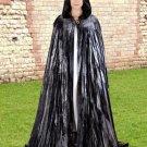 Hooded Cloak Medieval Renaissance Grey Velvet Midnight Fantasy Pagan Wiccan Ritual Ceremonial Attire